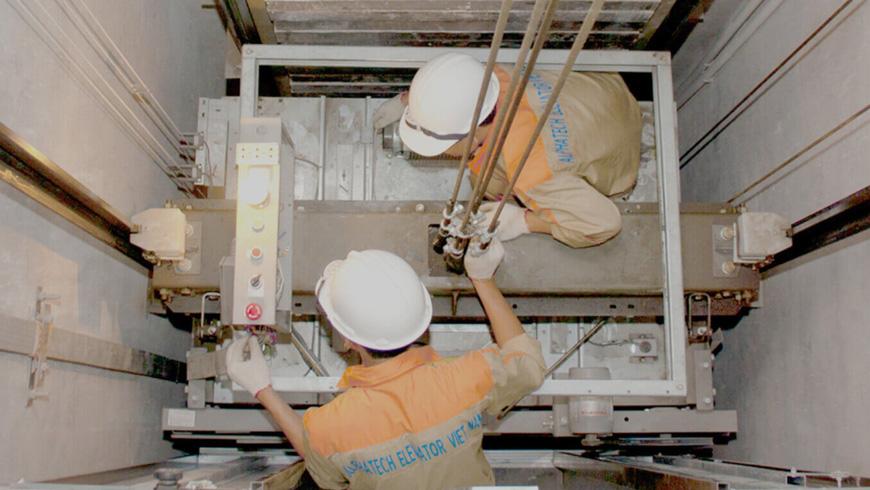 Dịch vụ sửa chữa hệ thống thang máy của công ty Sơn Hà